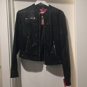 Faux leather Collection B moto jacket